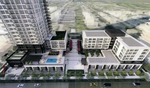 Photo rendering the proposed new development